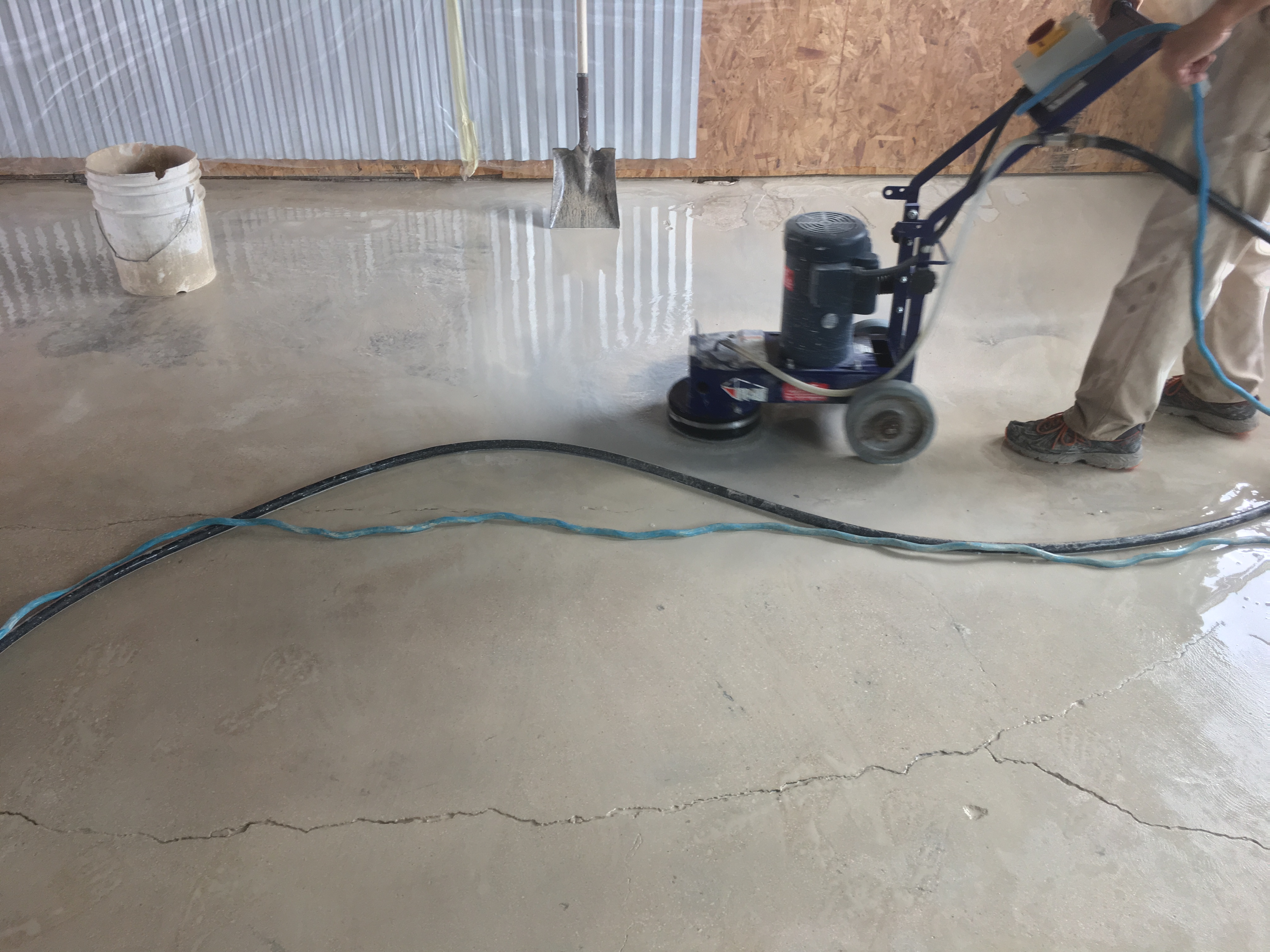 In The Next Pictures You Can See Floor Get A Nice Coat Of Stain And Then Sealer Put On It We Also Finished Cing Everything Off