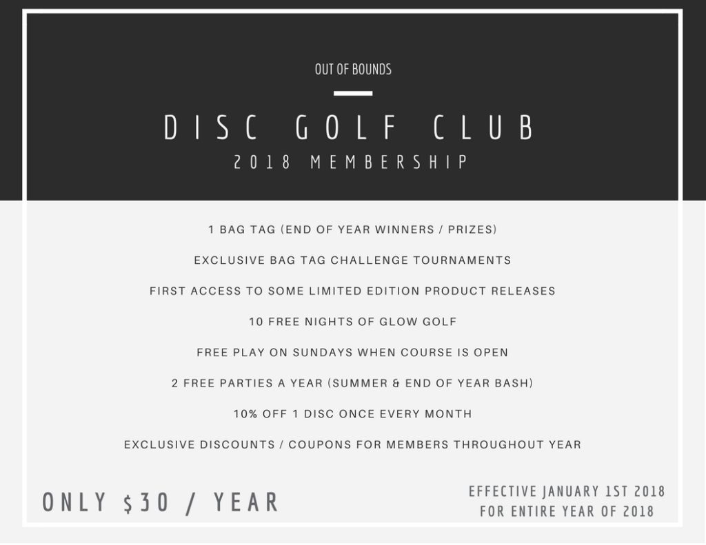 Out of Bounds 2018 Club Memberships