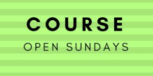 Out of Bounds Course Open Sunday
